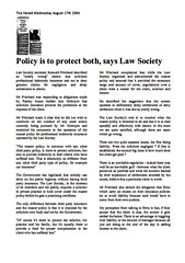 Policy is to protect both says Law Society Herald 1994 Retype