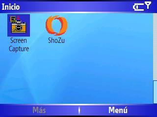 Menu inicio Windows Mobile 5 HTC Excalibur S620 Scroll 4 de 4