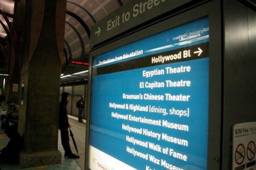 Hollywood/Highland Station Signage