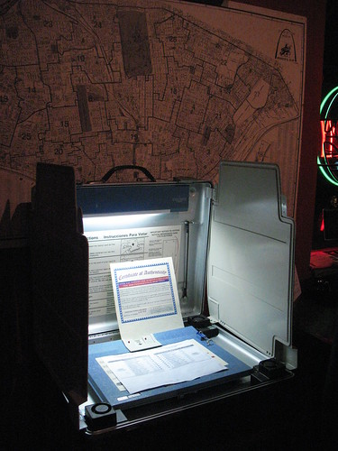 An old polling booth in the Royale