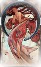 Las artes 1898, danza. Alphonse Mucha.
