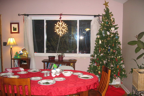 Getting ready for Christmas Eve dinner
