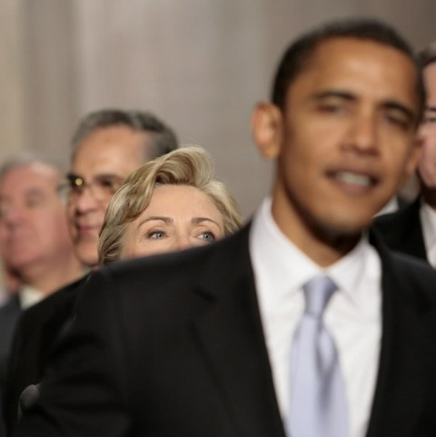 Obama trailed by Clinton