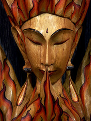 Flame God: Portrait in Wood