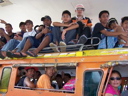 transport,jeepney,commuting,overloaded,rural