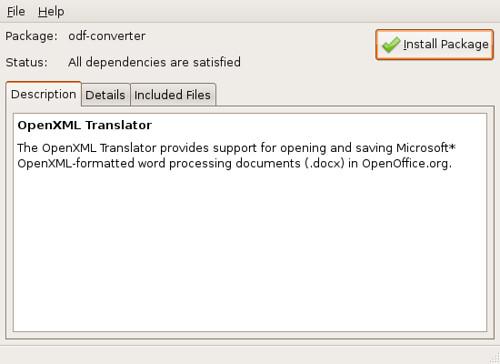 Abrir archivos OOXML en OpenOffice.org en Ubuntu Gutsy (7.10) y Feisty (7.04)
