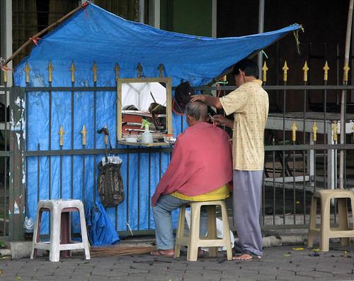 Street Barber / Indonesia, Yogyakarta