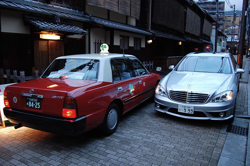Traffic in Gion