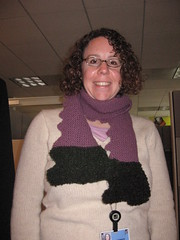 Susan and her first scarf!