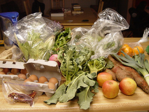 First box of produce