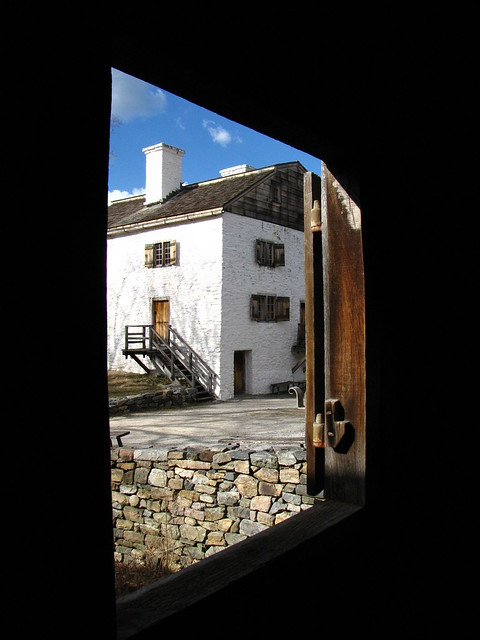 The Manor House from the Mill's window