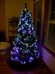 Pre-lit artificial tree: fiber optic only