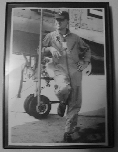 Dad in Air Force flight suit