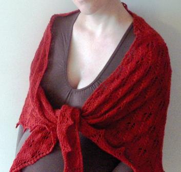 Shetland Triangle FO wearing