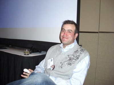 Brian Littleton in his Sweater Vest during his 2008 Roast