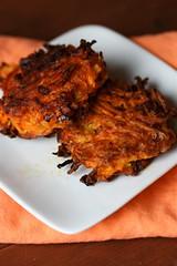 Sweet Potato Carrot Latkes