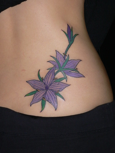 Sexy girls Tattoo With Sexy Flower