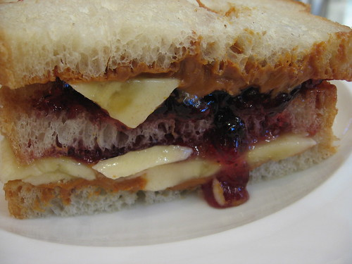 Triple Decker Peanut Butter, Jelly and Banana Sandwich 2 by iirraa