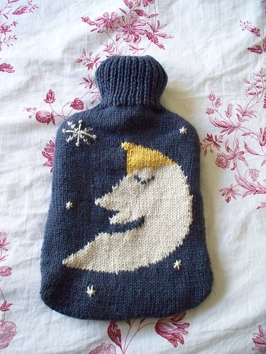Not that I use hot water bottles, but this cover is really cute!