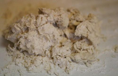 Sloppy soft dough prior to kneading