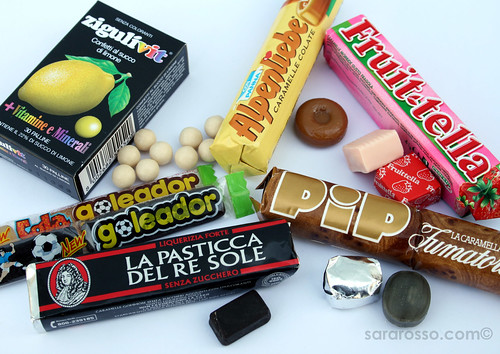 Italian candies found at the Tabaccaio