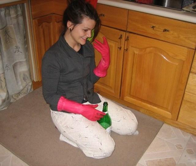 Pink Rubber Gloves