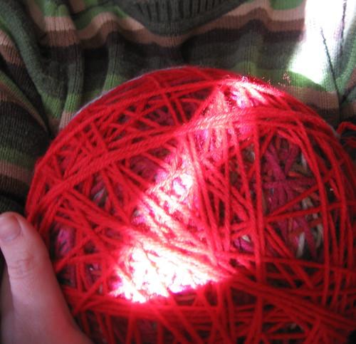 hugging my yarn