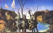 Salvador Dal�. Cisnes reflejando elefantes, 1937.
