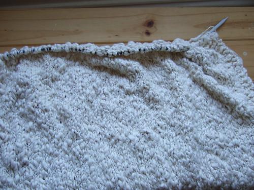 Cotton throw - progress