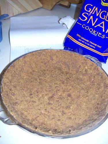 Gingersnap crumb crust