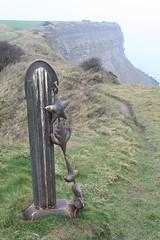 Marker Post Sculpture, Huntcliff