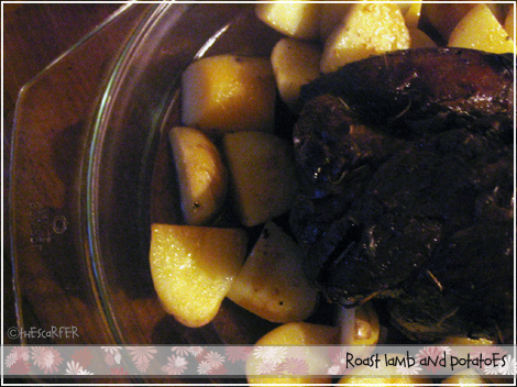 Roast lamb and potatoes