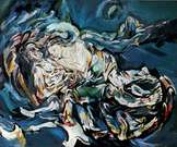 Oskar Kokoschka. La esposa del viento, tempestad. 1914.