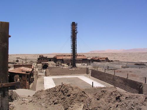 Pueblo minero de Humberstone, en Chile