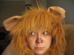 Home made Cowardly Lion Halloween costume 009