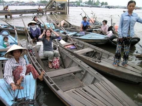 Chau Doc boats