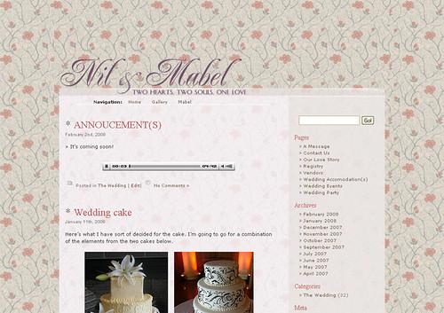 The wedding website!