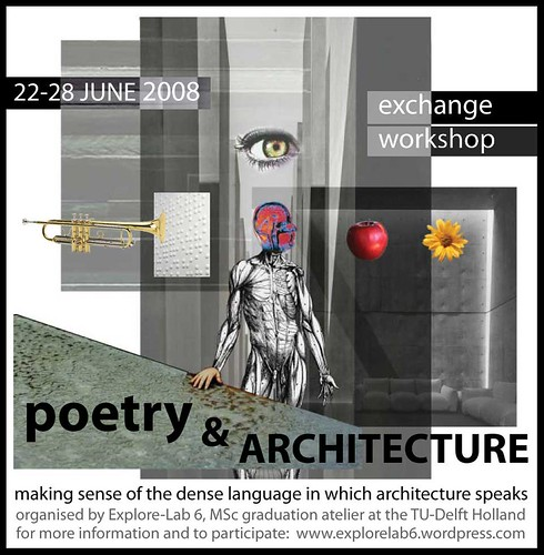 poetry & architecture flyer