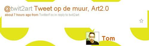 Tweet op de muur, Art2.0