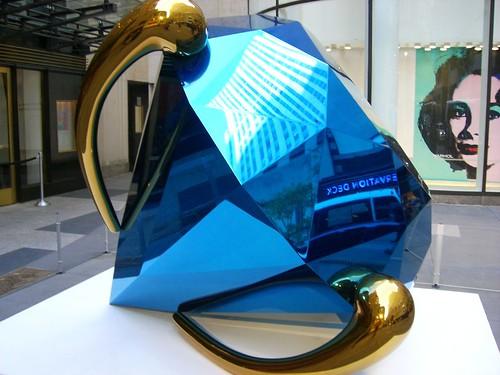 Jeff Koons Blue Diamond, Christie's, New York
