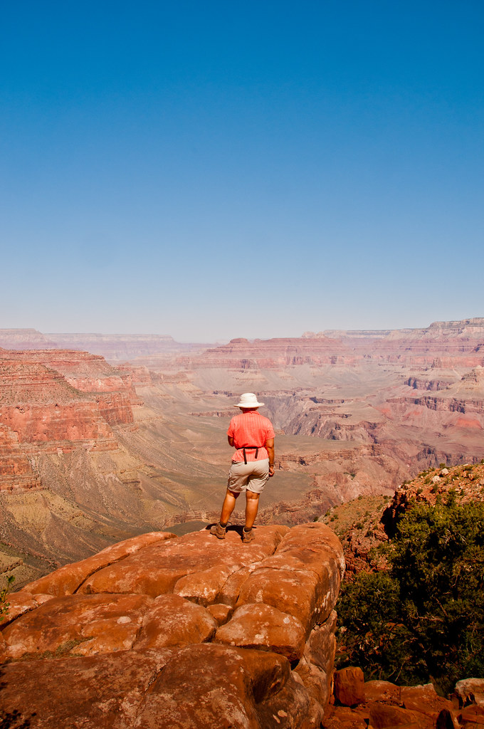 Chris at our lowest point in the Grand Canyon