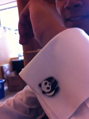 Panda cufflinks on @anemani10 totally making #formalfriday here at CfA by pahlkadot