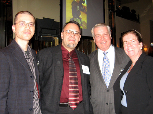 (L-R) Volunteers Rami Efal, Ray Alma, President Bill and Coordinator Helen Stafford