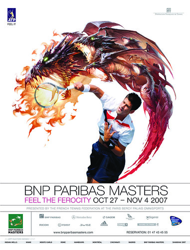 Novak Djokovic and the BNP Paribas Masters by ask curly.