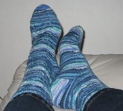 Blue Monkey Socks
