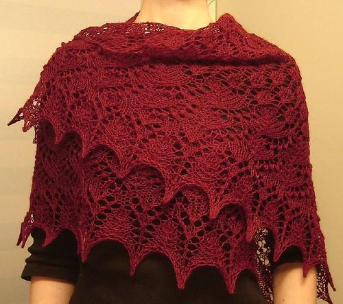 Swallowtail shawl 1