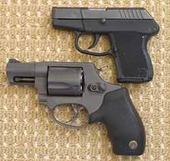 Taurus 85T Revolver vs. Kel-Tec P3AT Pistol