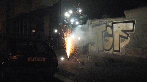 Street fireworks in Berlin