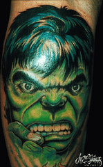 Hulk tattoo by In the Shadows Tattoo from flickr