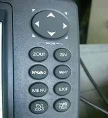 Lowrance LMS 527C iGPS buttons